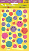 Smile Face Variety Pack Bright Colour Scrapbook Stickers - Package of 10 Sheets