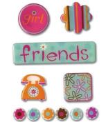 Provo Craft Rob & Bob Studio Epoxy Stickers-Friends