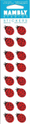 Mini Ladybugs Sparkle Scrapbook Stickers