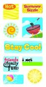 Summer Sizzle Lenticular Motion Scrapbook Stickers