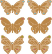 Embossed Butterfly Gem Charms