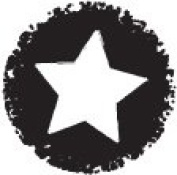 Daisy Bucket Designs Clearly Petite Acrylic Stamp - Distressed Star