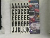 198 Piece 5.1cm Block Vinyl Letters Stickers 2 packs