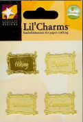 Twig Words Gold Lil' Charms for Scrapbooking