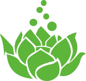 Lotus Flower Decal Sticker Cute for Car Truck Notebook Laptop 13cm Lime Green