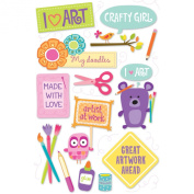 American Girl Crafts Art Stacked Stickers