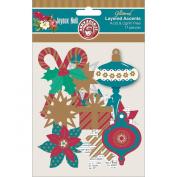 Joyeux Noel Layered Accents 17/Pkg-