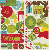North Pole Chipboard Accents Stickers