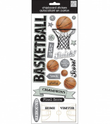 me & my BIG ideas Self-Adhesive Designer Chipboard, Basketball