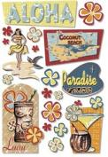 Aloha Luau Cardstock Scrapbook Stickers