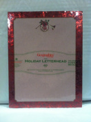 Geographic GeoPaper Burgundy French Horn Holiday Letterhead 40 Count