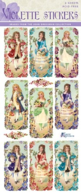 Violette Stickers French Couples for Valentines
