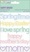 Happy Spring Self-Adhesive Jewels 8.9cm x 11cm Sheet-Easter/Mother's Day Shaped Words
