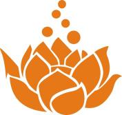 Lotus Flower Decal Sticker Cute for Car Truck Notebook Laptop 13cm Orange