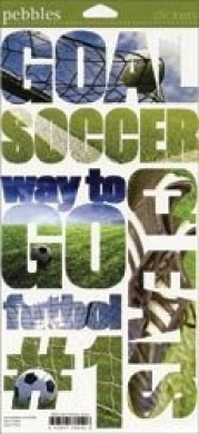 Pebbles Inc. Snapshot Sticker: Soccer
