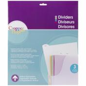 Cropper Hopper Tabbed Dividers W/Labels 3/Pkg-31cm X12.875