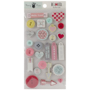 Fancy Pants Be Loved Button Set Valentine Scrapbook Embellishments