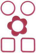 Provo Craft Rob & Bob Studio Gelly-O Plastic Window Frames-Berry