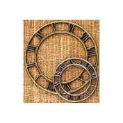 Prima - Sunrise Sunset Collection - Mechanicals - Vintage Trinkets - Metal Embellishments - Clock Face - Small