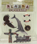 Alaska Scrapbooking Craft Stickers 3-d Totem Pole Inside Passage