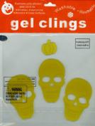 Halloween Skulls Gel Window Clings