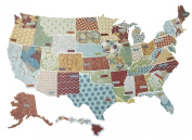 K & Company Die-Cut Cardstock, Tim Coffey Travel States