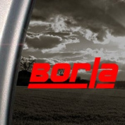 Borla Exhaust Red Decal Car Truck Bumper Window Red Sticker