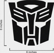 Transformers Autobot Logo Vinyl Sticker Decal-Black-15cm