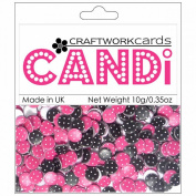 Candi Dot Printed Embellishments .1040ml-Raspberry Truffle