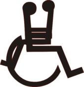 Wheelchair funny vinyl decal sticker