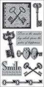Autumn Leaves Cling Rubber Stamp 11cm x 24cm /Pkg-Vintage Keys