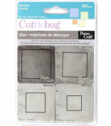 Cuttlebug 5.1cm -by-5.1cm Dies (Set of 4), Squares