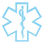 Star of Life Medical EMS Vinyl Sticker Decal