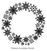A Snowflake Wreath Wood Stamp