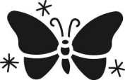 American Traditional Designs Stainless Steel Mini Stencil - Butterfly