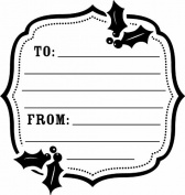 Holiday Tag Wood Stamp