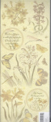 BOTANICAL IMAGES EMBOSSED STICKERS- K & COMPANY