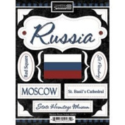 Discover Russia Cardstock Scrapbook Stickers