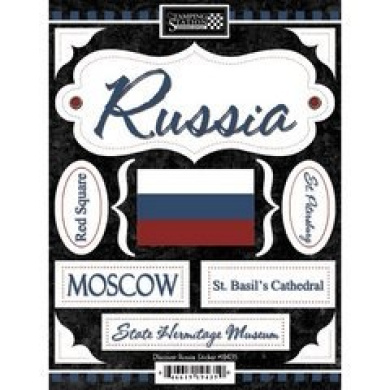 Discover Russia Cardstock Scrapbook Stickers (19435)