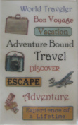 Travel Words Rub-ons for Scrapbooking