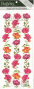Borders of Roses Vellum Scrapbook Stickers