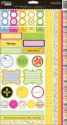 Jillibean Soup Summer Squash Cardstock Stickers 6x12 Sheet: