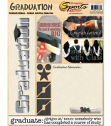 Cardstock School Stickers 22cm x 11 Inch - Graduation