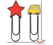 Star & Bus Jumbo Clips // Stemma