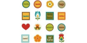 Scrapbooking Embellishment - Rubber Stickers - 16 Pieces - #9939