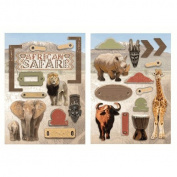 Paper House Productions - Africa Collection - Die Cut Chipboard Pieces - African Safari