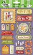 Sisterhood Cardstock Scrapbook Stickers
