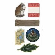 Trail Mix Chipboard Scrapbook Stickers