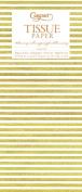 Entertaining with Caspari Tissue Paper, Seersucker Stripe Gold, 4-Sheets