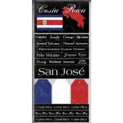 Costa Rica Scratchy Scrapbook Stickers